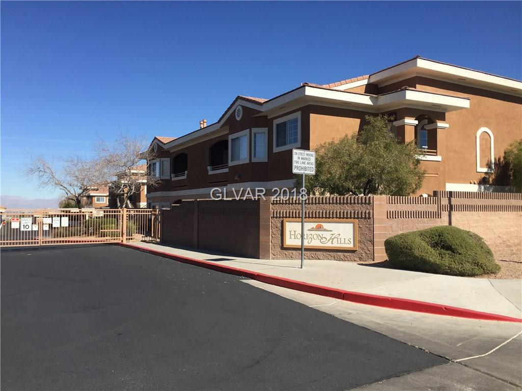 Henderson area near Green Valley Ranch. Ground floor spacious 2 Bed/2Bath Condo.  Located in a Gated Community. Community Pool/Spa. Hard to find 1 car garage. Needs carpet and paint, and make it your new home.