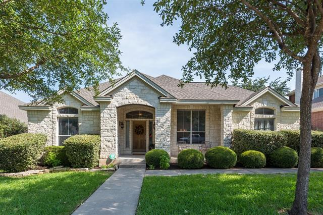 Amazing 4 side masonry home is nestled in charming neighborhood only 3 houses from Avery Pool & Playground. 2 flex rooms can be used for an office, play, or game room.  Sweeping arches, niches, & high ceilings give grandeur ease of living.  Utility room is stacked w/cabinets & sink! Blk & SS appliances in kit w/corian island is open to family room. MB w/jetted tub & walk-in shower! Amazing RR ISD Schools! Mins from 620/45/183! Covered patio leads down to sun deck. June new carpets & landscape!