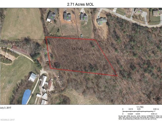 If you are looking for privacy then look no further in this lovely 2.74 acres which feels out in the county but is really only a short distance to downtown Hendersonville and Interstate travel.   Land is mostly wooded but could have views with clearing of trees.  Several building spots to choose from and there is a deeded right of way off Pottery Terrace Trail but there are not any HOA dues to community.