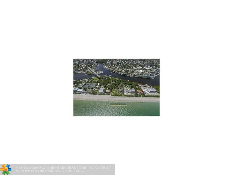 Build the estate of your dreams on the deepest and single largest lot available on Hillsboro Mile. 100 feet of oceanfront and 120 feet of direct deepwater intracoastal, and almost 700 feet deep.  This is truly the most prized single lot on Hillsboro Mile. The lot to the south was sold for $10.1 million in 7/2015.  There is a house on the lot, but property is being sold at lot value, to be developed.  This property is truly amazing and perfect for end user or spec development.