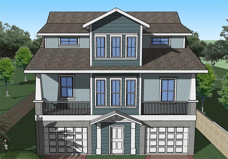 "Under Construction : AVAILABLE July/Aug 2018. Coastal Collection ""Colonnade Model"". 2441 sq. ft. 4 bed 2.5 Bath Home with Bonus Room.The ground level consists of twin garages and abundant additional storage space so you can make the most of the living area upstairs. Behind the garage and storage area is a covered porch under the rear of the house which can be customized to suit a variety of uses from additional Bonus area, Outdoor Kitchen / Outdoor Game Room & Gym or add a Hot Tub and still have plenty of Back Yard to enjoy the Florida Sunshine. Enter via the ground level garage staircase into the first floor of the residence. At the top of the stairs is an open concept Kitchen/Family room with breakfast nook and French balcony overlooking the rear yard. The formal dining room and great room continue the open concept theme to the front of the main floor and feature a 20 ft. clerestory ceiling and walk-out to front balcony.The kitchen features shaker style cabinets and Island with custom Granite Countertops and under Mount Sink. The Master suite contains a bedroom with French balcony overlooking rear yard, his and hers walk-ins and a 5 pc. Ensuite with custom walk-in tile Shower and Tub. The next Level Features 3 further Bedrooms and guest bath and a Large Bonus area for the Family to Enjoy.Ideal location for down town Tampa commuting / working at MacDill AFB or across the Bay in St Pete.NO HOA or CDD fees."
