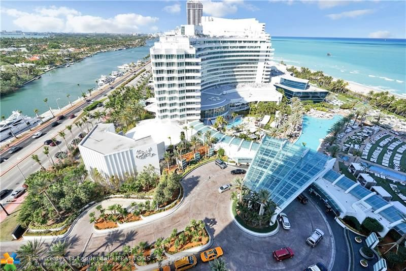 Live the Suite Life! Stunning 1BR/2BA suite at the Fontainebleau II. Best line in the building w/direct ocean view off of main balcony. Vacation-style living. Fully furnished apartment. The Fontainebleau is a 22-acre, oceanfront, 5 star resort w/top of the line amenities. 12 restaurants & bars, LIV night club, Lapis spa & gym. Monthly maintenance fee includes: electric, basic cable, valet, Lapis spa and fitness center access, free breakfast in owner's lounge. Enroll in hotel rental program & earn income.