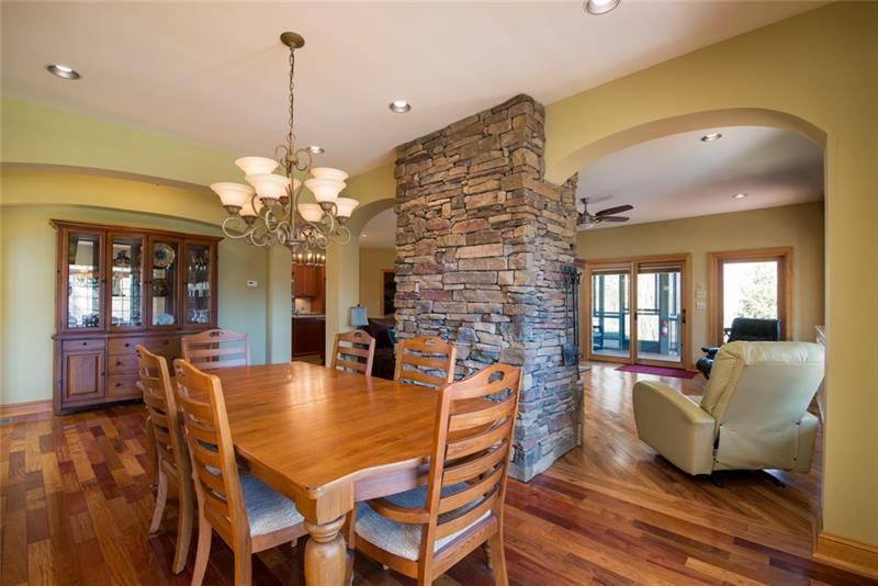 Large Dining Room area, beautiful hardwoods throughout the home