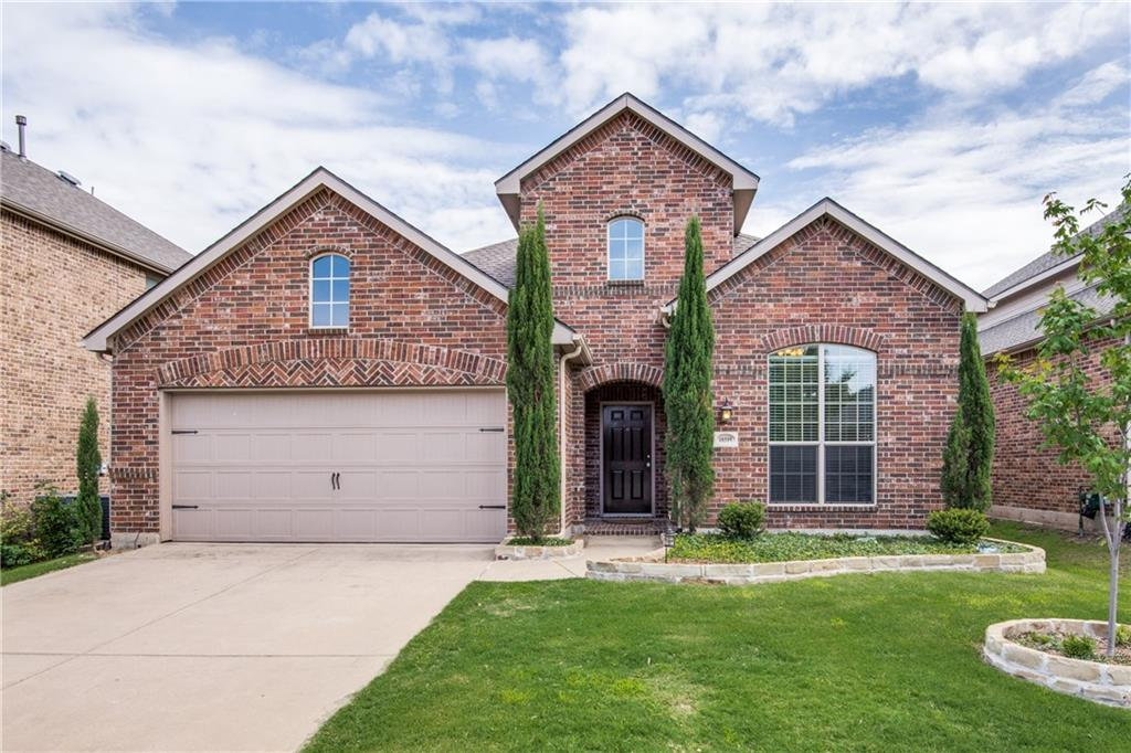 Beautiful north facing 4 bedroom home located in exemplary Frisco ISD! Open floorplan featuring art niches, rounded corners, wrought iron balusters, crown moulding & fresh carpet throughout! Private study right off of the entry! Updated kitchen w granite countertops, SS appls & breakfast bar. Flex room off of the kitchen is perfect for kids playroom, additional study OR exercise room! 1st floor master retreat w walk-in closet, separate vanities, jetted tub & separate shower. 2nd floor is complete w gameroom & 3 secondary bedrooms. Pool size backyard w covered patio & hot tub! Great community amenities include 2 large pools, playground, jogging paths & park w splash pad! Roof 2017! HVAC 2017! Carpet May 2018!