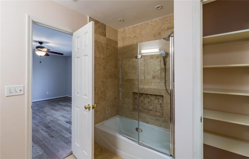 One of the private full bath for spare bedrooms!