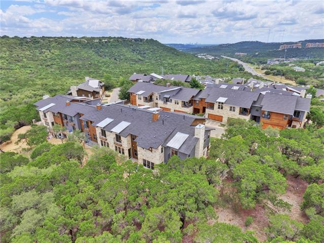 "Generous builder close-out incentives! Just completed and ready now, the last ""Preserve"" three bedroom unit in this modern condo community. Backing up to the Balcones Canyonland Preserve with a private fenced yard, this home offers a private tranquil greenspace. Superb contemporary upgraded finish package floorplan features a large second living space upstairs with 14' vaulted ceilings. With a luxurious master suite, this is the highest home in the community. Call for appt or visit Open House Sun. 1 - 4"