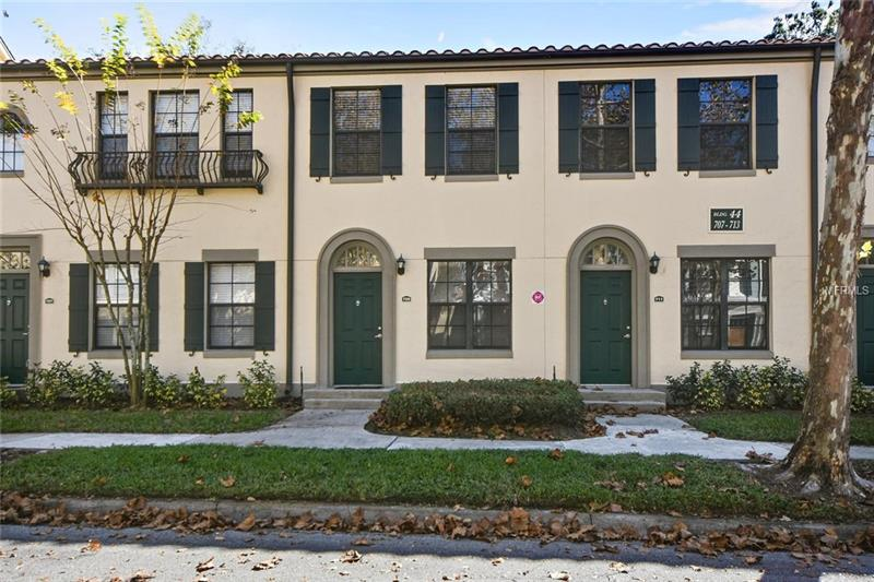 **WELCOME HOME! Whether it's your dream to live in renowned Celebration, Florida all year or just seasonally, this could be your chance!** This is condominium living at its finest-low maintenance, low utilities, zoned for desired schools, plenty of community amenities along with monthly events, 1 car garage with a peaceful wooded area and no rear neighbors! Step outside and you're within walking distance to the Celebration Golf Course.  Gather downstairs in your kitchen overlooking the dining and living space while your bedroom is located upstairs for additional privacy.  The community features **a swimming pool, fitness center, playground, and walking/biking trails.** Located just minutes from Walt Disney World, restaurants, shopping, the Celebration hospital, and downtown Celebration. Don't miss out on your chance to own this spectacular unit!