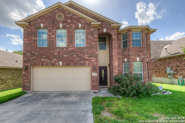 Beautiful 3/2.5/2 home in The Villas at Mountain Lodge. Home features open floor plan, high ceilings, separate formal dining, island kitchen, game room upstairs, large master, and great backyard. Great location off of 281 N. Convenient to excellent NEISD schools, shopping centers, restaurants, park, and so much more.