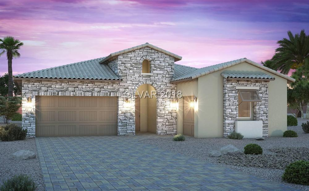 New home in Monte Lucca at spectacular Lake Las Vegas. 5 bed + 4 and a half baths.