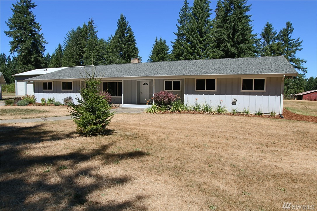 Country Rambler on 7.27 private acres! Main home features 2646 SF, 3 bds (5 different rooms to choose from), large updated kitchen w/great cabinet space, island, garden window, living and separate family rooms, new trim throughout! 660sf detached dwelling, 1 bd/1ba, perfect rental or M-I-L unit. 4 bay shop (1-RV Sized Door), 2400 SF, w/finished rooms on main level + upstairs (not in total SF). Property is private, flat, fenced areas for animals, outbuildings, garden space, beautiful setting!