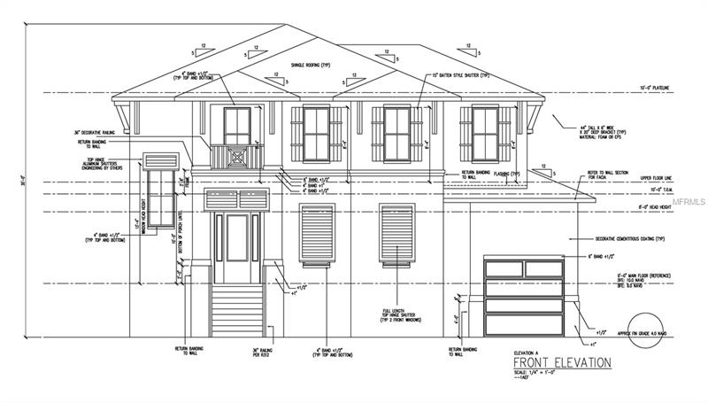 """Pre-construction. To be built. Live on the water in desirable Beach Park on a quiet street with expanded water views including open water views of Old Tampa Bay. includes new private dock. Elegance and luxury are apparent in the architectural details as you enter the impressive 20 foot ceiling foyer complete with a wrought iron baluster curved grand staircase. This easy flowing design boasts an en-suite bathroom in all bedrooms; A Chef's dream kitchen with double island, professional grade Wolf SS appliance package and 42"""" Sub-zero fridge; All wood custom-made cabinetry with soft-close drawers and hand-finished soft-close doors and Quarts countertops, Built-in coffee system, Pot-filler and so much more to complete the perfect kitchen experience; Other features include a media room; 3-car garage; outdoor kitchen experience; 2-story block construction, Hand-scraped, distressed wood flooring throughout the home; Custom fireplace; Icynene insulation system; Custom closet in Master; Climate controlled Wine room; Gas option including 2 tank-less water heaters with loopback system for no delay hot water and so much more. Contact a Bayshore Custom Home's representative for more information. Bayshore is a true custom and design builder. They will assist you in designing a floor-plan to your exact needs and lifestyle requirements."""