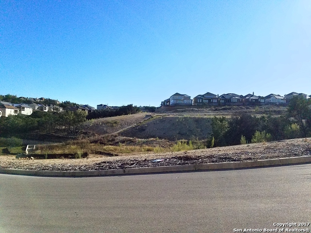 Build your dream home in the exciting new subdivision of Hidden Canyon, located in the heart of Stone Oak.  This lot offers breathtaking views! Amenities center is under construction.  Don't miss out on this opportunity to own a piece prime real estate.  Award winning schools, dining and shopping nearby!  Enclosed are pics and floor plan of a possible house that can be built by Rialto Homes.