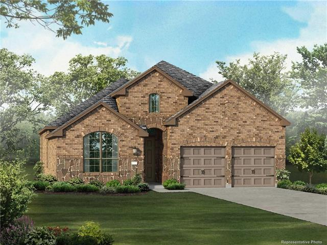 """MLS# 9578272 - Built by Highland Homes - March completion! ~ Stone-brick exterior. 5"""" plank wood flooring @ living areas, WB fireplace w- gas starter in family room, granite countertops at kitchen. Master suite w- double vanities, separate tub & shower, large closet. Extended master bedroom & extended outdoor living. Kitchen-breakfast open to family room & dining area. Extended outdoor living w-stone floor. Utility room cabinets..."""