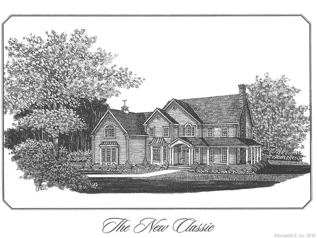 An exquisite setting located at end of cul de sac in prime Nichols location, offering over 5 acres surrounded by Trumbull Land Trust property. Grand colonial with wrap around porch is the epitome of country elegance with luxurious appointments and hand crafted custom details. Massive two-story entrance foyer with formal living and dining area, library, family room with soaring ceiling & floor to ceiling stone fireplace. Gourmet eat in kitchen with pantry completes the first floor living. Master BR with master bath includes whirlpool & separate shower with cathedral ceilings in both the master bedroom and master bath area. 3 additional spacious bedrooms complete the second floor. Dual staircases , full walk-out basement and walk-up attic. Can also purchase lot separately. Reference MLS #170029002. Taxes noted are only valid on vacant land and will be re-assessed once construction is completed.