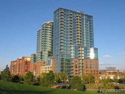 Stunning downtown condo with INCREDIBLE views of city and mountains! Floor to ceiling windows compliment this spacious, modern loft. Wide-paneled wood floors and a concrete, vaulted industrial feel. Spacious kitchen with granite countertops, bar seating, stainless steel appliances and a decorative tile backsplash. Escape to your master suite with walk-in closet and private bath with soaking tub. Private balcony overlooking the city from the 20th floor. Prime location in downtown near restaurants, bars and shopping. Amenities include pool and gym in this secure building. Storage shed included in purchase. Call now to schedule your private tour!