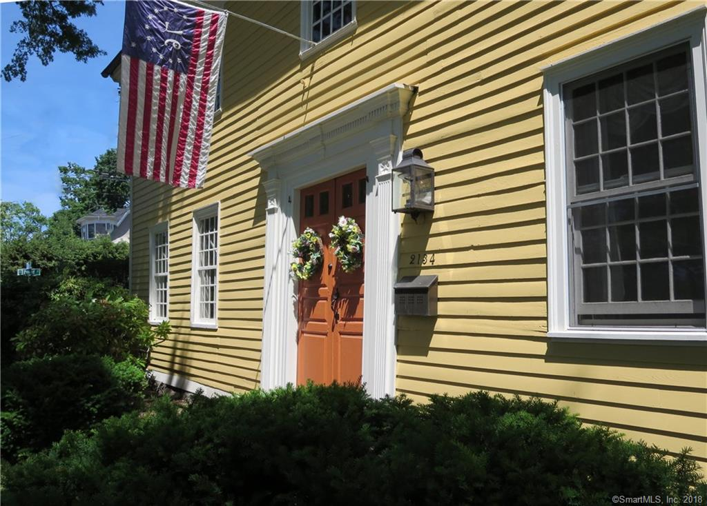"""Enjoy this home's prominent location overlooking Stratford's historic Academy Hill and short walk to Stratford Train Station for Metro North service to NYC! Imagine being able to walk to your boat that's docked at Brewer's Stratford Marina or Pootatuck Marina, or just being able to walk to Stratford's picturesque waterfront along the Housatonic and enjoying dining at  Outrigger's or Uberti's Seafood. This historically significant home offers many opportunities for those who want to live in the heart of it all.  With over 3000 sq ft of living space, this home, known as the Curtis House has 4 bedrooms, 2 baths, 5 fireplaces including a 9 foot hearth in the great room with a gas insert, updated kitchen & separate pantry that shares work space with the original """"keeping room"""" now the great room, formal dining room, formal living room, 2nd floor laundry and updated baths. Many original appointments give the Curtis house it's charm and character, as well as a fabulous location!"""