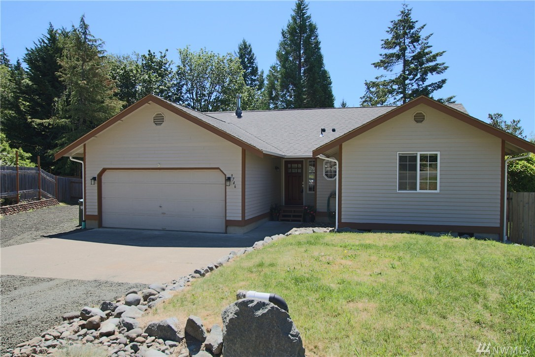3-Bdrm Rambler in Saltwater Community, Carlyon Beach! Great room features wood stove, galley kitchen w/new appliances, open to dining, lots of windows looking out to private backyard! Master w/walk-in closet, 3/4 bath. Fresh interior paint, new carpet, new roof, 2-car garage + outbuilding, RV Parking, nice deck, stone firepit, fully fenced backyard, all on nearly 1/4 acre lot! Water service is included in dues along w/waterfront clubhouse, park, playground and boat launch! Griffin School Dist!