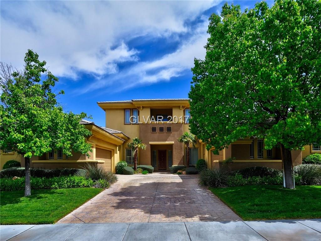 Stunning 5 BR Aria with Golf Mtn & some city views! 2x6 Construction, gourmet kitchen with granite, custom cabs and island/bkfst bar, B/I Monogram Refer, Fabulous family room w/paneling, Pool (table) room, Jack-n-Jill bath w/Brooms 2-3, Formal living & dining rooms, Master suite to die for, huge w/in closet, Marble bth, large office w/custom paneling, two patios face east w/PM shade & great views. 4 Car garage + more!!