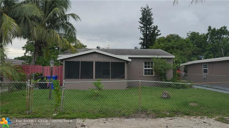 EXCELLENT OPPORTUNITY FOR INVESTORS!!! 2BED-1BATH MAIN HOUSE WITH ADDITIONAL IN LAW QUARTERS CONSISTING OF A 1-1 WITH KITCHEN. HURRICANE IMPACT WINDOWS THROUGHOUT AND NEWER A/C. MINUTES TO BEAUTIFUL BEACHES, WORLD CLASS SHOPPING/DINNING AND AIRPORT. THIS PROPERTY SITS ON AN OVERSIZED LOT WITH PLENTY OF ROOM FOR A POOL AND ENDLESS BACKYARD ENTERTAINMENT. 1220 NW 1 AVE(RIGHT NEXT DOOR) ALSO FOR SALE TO MAKE THIS 1 BIG COMPOUND.  EASY TO SHOW CALL LISTING AGENT