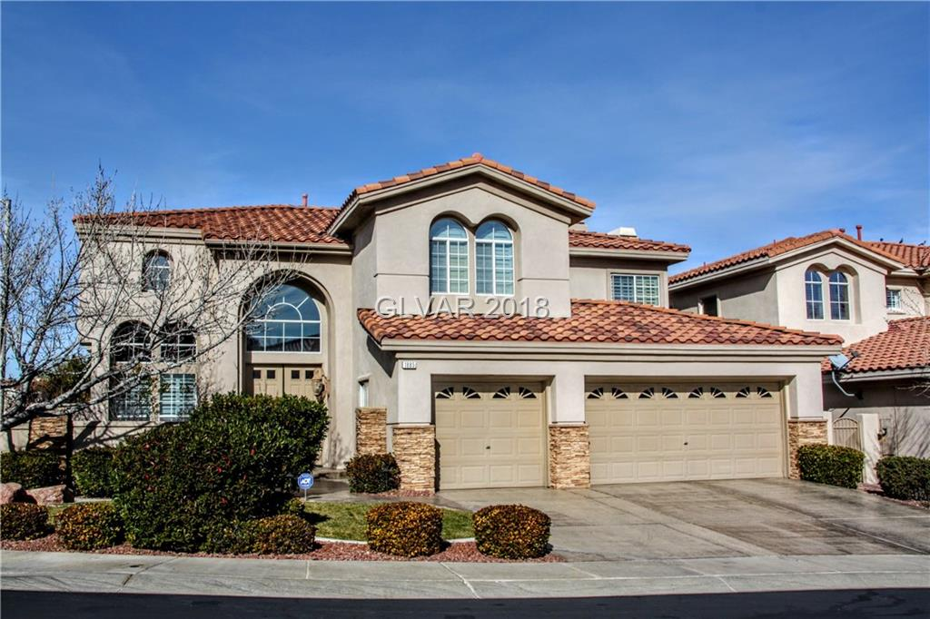 Absolutely Gorgeous home on corner lot in desirable Green Valley Rch. Close to parks & District. Engineered hardwood floors in liv rm, din rm, bdrms & stairs. Tile flr in kitch, Fam Rm, & bathrms. Crown molding, 2 tone paint, New 75 gal hot wtr htr. RO, water cond, all stnls stl appls, w/d, trash comp incl., Custom shutters,  3 car finished gar/builtin cabs, & finished floor.  Front & bckyrd fountains. Patio, walkways, driveway finished concrete.