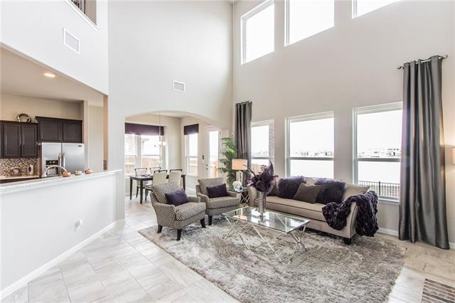 Incredible 4 bed/3.5 bath, formal dining + study+ opt bonus up. MIL plan. Through the beautiful Mahogany entry door with glass canning and enjoy this wonderful open plan home boasting granite, rounded sheetrock corners, 14 seer AC with programmable thermostat, architectural detail throughout, satin nickel designer hardware & lighting. SS appliances , cultured marble vanities. landscaping pkg+10 yr HOME OF TEXAS WARRANTY.