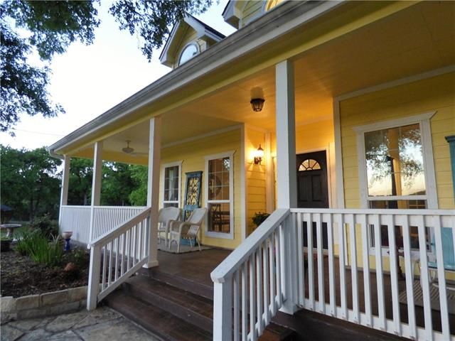 Beautiful country living in the middle of the city! Serene creek-side acreage property, former bed and breakfast on 4+/- acres. Gorgeous home with a wrap-around porch, country kitchen and a white picket fence with recently installed windows! Nestled around beautiful Brushy Creek.  Located in the acclaimed Leander ISD!