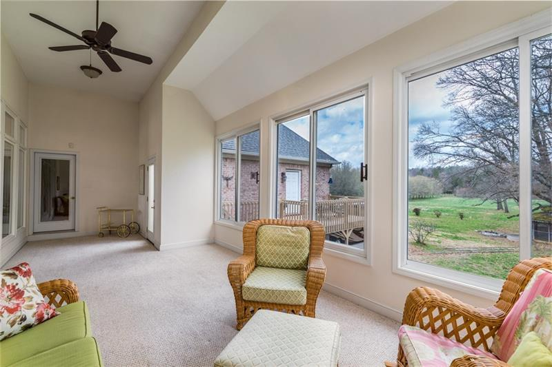 Enjoy the large Sun room on the Main level