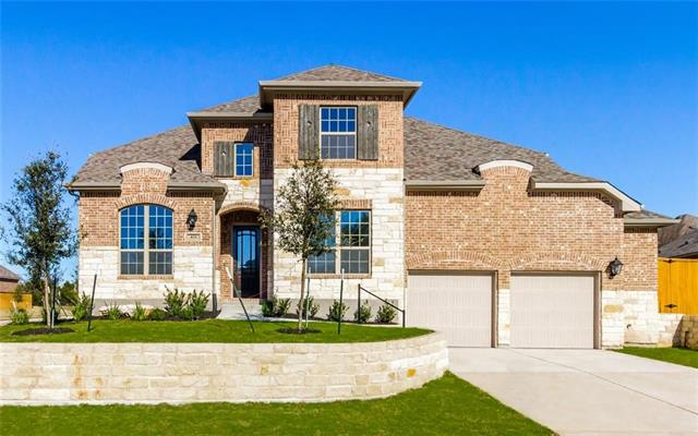 MLS# 9199490 - Built by Highland Homes - Ready Now! ~ Beautiful, new 2 story, 5 bedrooms, 4 full bath, family room, game room, loft, dining room, study, entertainment room, extended outdoor patio, 3.5 car tandem garage, mud room, stone elevation. Stop by today!!!