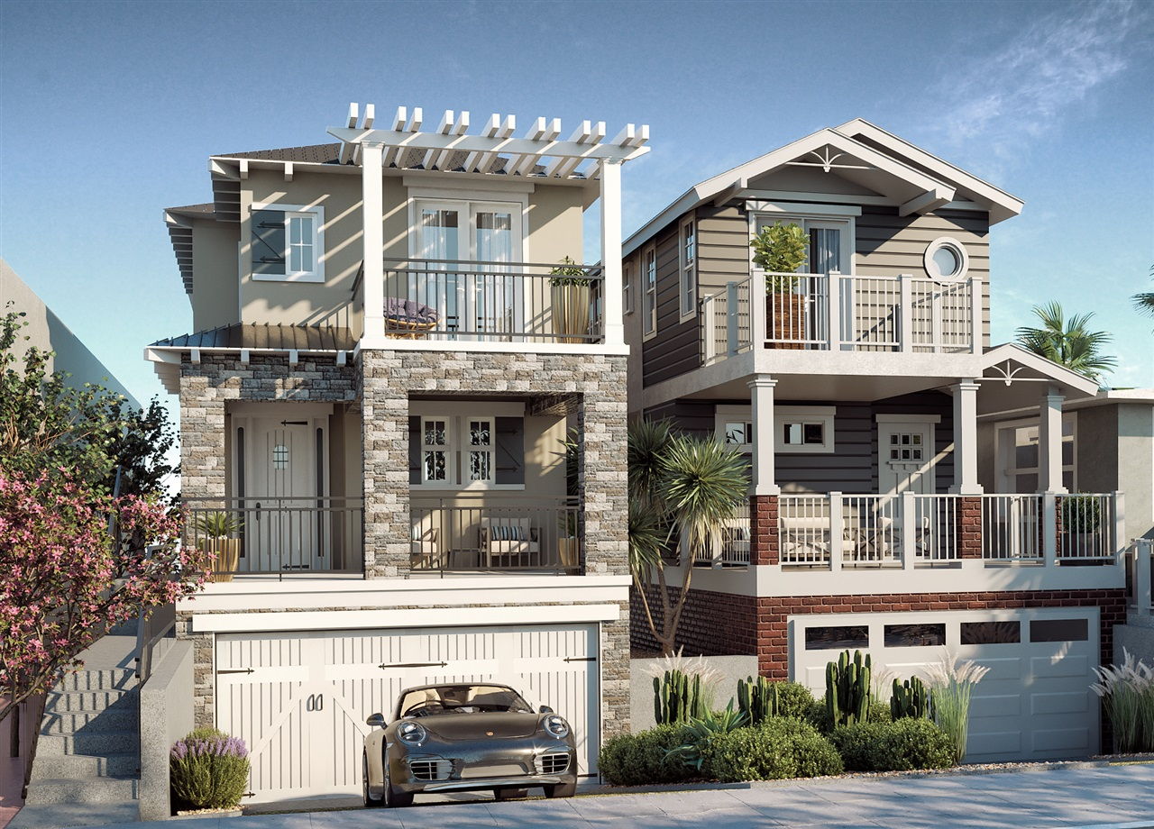 BRAND NEW BEACH HOME! Less than a block to the sand, this new detached single-family residence built by Scott Alan Homes is scheduled for completion in Summer 2018. This exquisite 3BR/2.5BA NEW home is one of two currently being constructed from the ground up. Awesome interior and panoramic exterior whitewater, sand & sunset VIEWS extending to the OB Pier, Sea World, La Jolla and beyond. No HOA, No Mello-Roos, No CCR's. HURRY, these won't last!This home features top quality construction and upgraded interior finishes boasting a classic coastal palette. Amenities include Professional Stainless Kitchen Aid appliances, Exclusive Use Yard, Covered Outdoor California Room perfect for entertaining, 9 foot ceilings, four spacious decks. See supplement or call for full list of amenities or click the Virtual Tour link for floorplans and more. Drive by or schedule a tour TODAY!