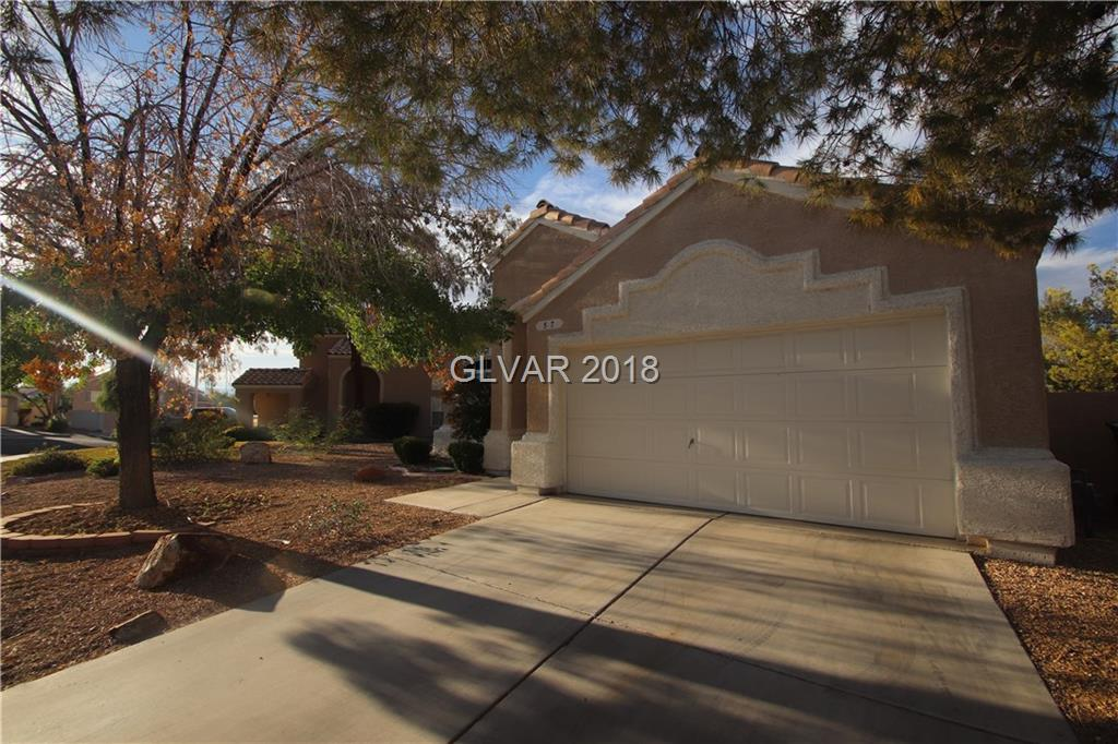 Single Story Located in Green Valley.  Granite countertop with zero radius stainless steel sink with Stainless steel appliances.  Large Master Bedroom with sitting room (was optional 3rd bedroom).