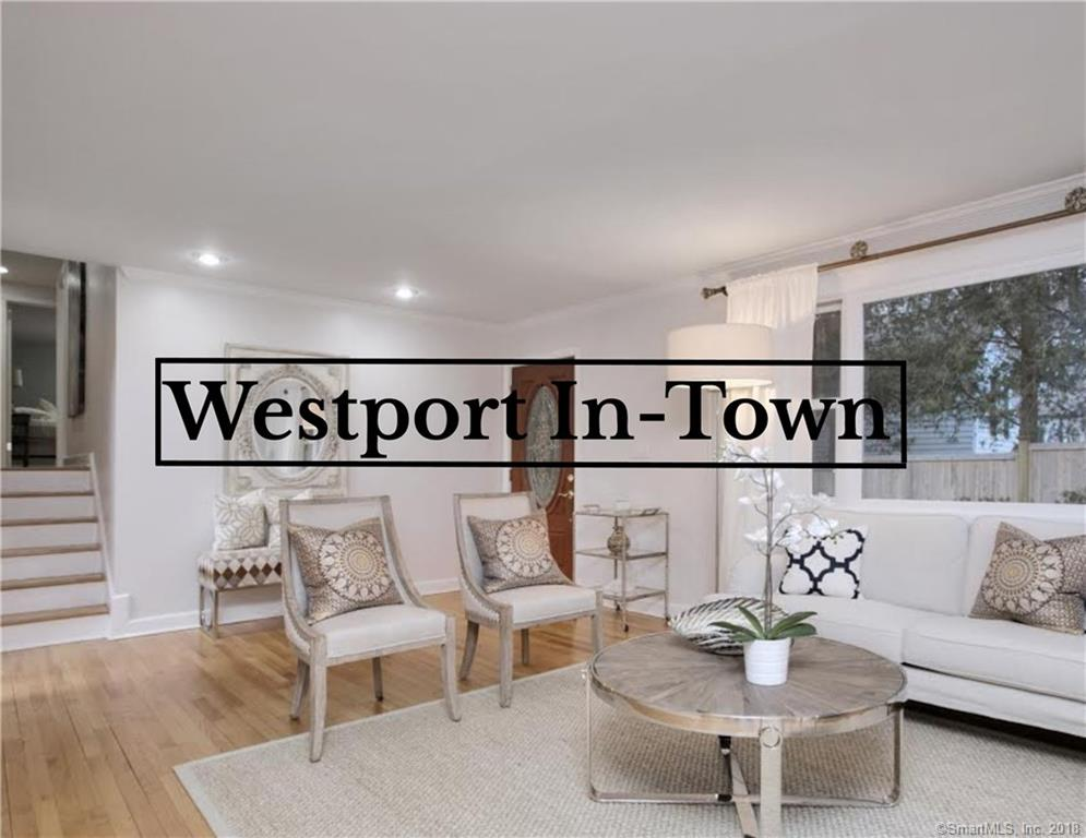 """MOTIVATED SELLERS will entertain all reasonable offers. It's all about your premier """"in town"""" Westport location at 8 Lone Pine Lane. Take a stroll into town for great shopping and fantastic restaurants, and all Westport center has to offer.  The train station and Compo Beach are only 5-minutes away. This home is completely turnkey offering four bedrooms and three full baths.  The open floor-plan and vaulted ceilings in the living and family rooms give a real sense of spaciousness. These rooms flow effortlessly into the Chef's kitchen and dining room making entertaining easy.  The master suite is luxurious with state of the art amenities such as a jacuzzi, steam shower, heated tile floors surrounded by Italian marble. There are three additional bedrooms and a bath. The lower level completes the home with an office, another full bath and access to the attached two car garage. Location, location, location - and only 60-minutes to NYC!"""