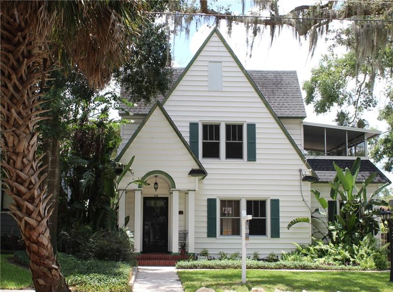 """MOTIVATED SELLER---BRING US AN OFFER! DT ORLANDO; COMPLETELY RENOVATED; LAKE EOLA HISTORIC DISTRICT.  Stately 3 Bedrm/3 Bath Home in beautiful neighborhood in the heart of DT. Home is in EXCELLENT condition w/wonderful curb appeal & numerous updates. You will love the Open feeling: high ceilings, crown molding & beautiful original hardwood floors in Lg Living Rm w/brick Fireplace, double French Doors open to the Bonus/Study flowing into the Dining Rm & Updated Kitchen. Custom Kitchen Cabinetry w/stained glass accents, granite counters, stainless appliances, farmhouse sink & Island w/Gas range & floating island hood provide the perfect """"gathering place"""". Dining Rm streams w/light from the 2 sets of French Doors that lead out to the massive wrap around Deck. Competing the main floor is a new Full bath w/shower & Laundry Rm. Upstairs is the Master Suite w/its own Bath, cedar closet & private 17x9 Screened Porch. 2 additional upstairs Bedrms & 3rd Bath w/claw tub & shower. Outside living includes a wraparound Deck overlooking lg fenced backyard w/deep lot---an open canvas w/plenty of room for a pool & garage. Features include: New AC & gas water heater (2017), re-plumbed, new electrical, all windows replaced, vinyl siding w/foam insulation, termite bond, huge unfinished attic (size of house from front to back---check out plans in attachments for media rm & garage). This is a fantastic home, Circa 1925, that has been restored to its beauty. An easy walk & only minutes to shopping, restaurants, DT & Lake Eola."""