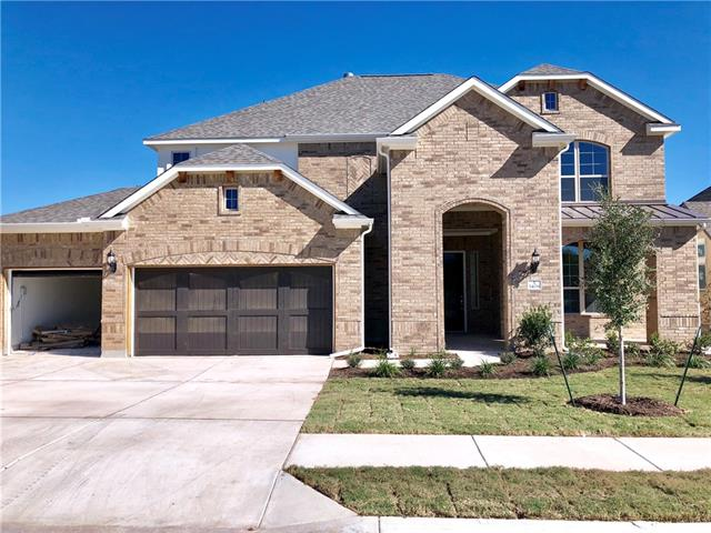 Newly Redesigned Stanford Plan! Featuring a study with french doors, fireplace in family, and upstairs game and media rooms. Upgraded Kitchen Island, Granite Countertops, Custom Tile Backsplash, Covered Back Patio, Full Sprinkler/Sod in Front & Rear Yards. See Agent for Details on Finish Out. Available October.
