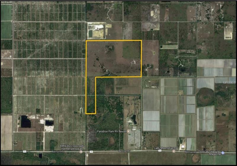 280 Acre Cattle Ranch for sale near Punta Gorda, FL. 3/2 ranch house and barn. Cowpens, and fencing. Remote location and privacy. Hunting Allowed. 8 acres of commercially planted ornamental palm tree. Potential commercial shell deposits. Priced to sell only $3,995.00 per acre plus value of house and improvements.