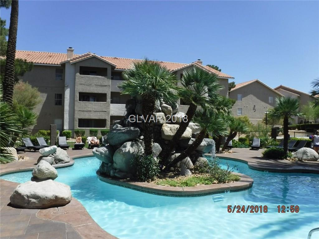 Great investment property! No rental restrictions. 1 bed 1 bath luxury condo. Granite countertops. Community features two pools & a spa. HOA includes cable, basic internet, water, trash, parking & 24/7 live security at gate. Very close proximity to the Rio hotel & the strip. Designated Uber & Lyft parking in front of the club house. Show today! All figures & measurements are only approx. Buyer is to verify schools, HOA, measurements & utilities.