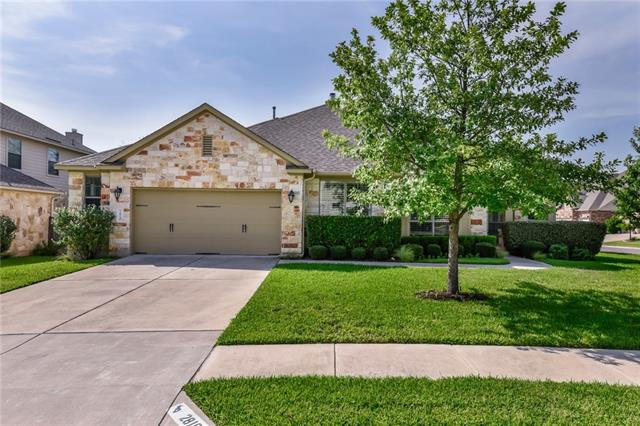 Located in desirable Cypress Canyon on a quiet cul-de-sac lot this home features private office/study and formal dining ideal for entertaining. Bright & Open Family room w/ stone fireplace is open to the kitchen with ample space to create, plenty of storage & adorned with rich finishes. The private master suite boasts a serene en-suite w/ large double vanity! Step out back to the Shady covered porch for entertaining friends or relax in the quiet.