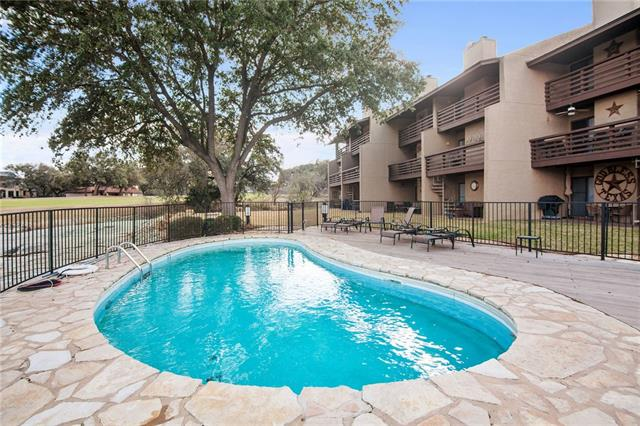 Best of Both Worlds! 1of a kind townhome complex in HSBay. Lakefront & Golf Course! Spectacular views of Lake LBJ & AppleRock #11 from east facing decks whilst having morning coffee or evening cocktails. Just need your toothbrush & swimsuit to start enjoying fully furnished, equipped home. Day docks to enjoy your watercraft- few steps from back door & complex swimming pool. You'll love hosting your family & friends in the 2 spacious bedrooms with flex space which can be used as family/game or as 3rd BR
