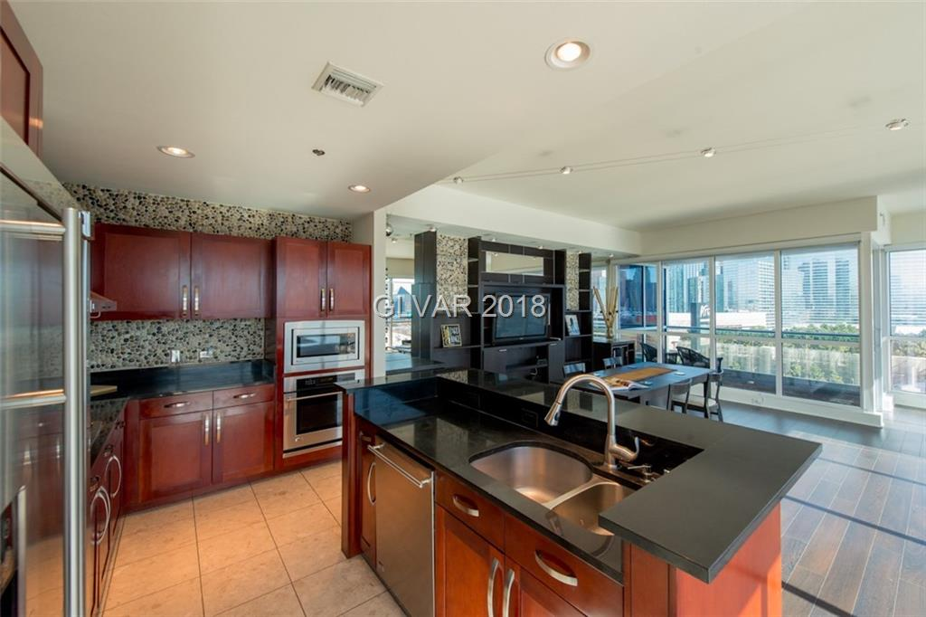 Gorgeous views of the strip! Unique Panorama Tower residence with 2 parking spaces and a bonus storage location!