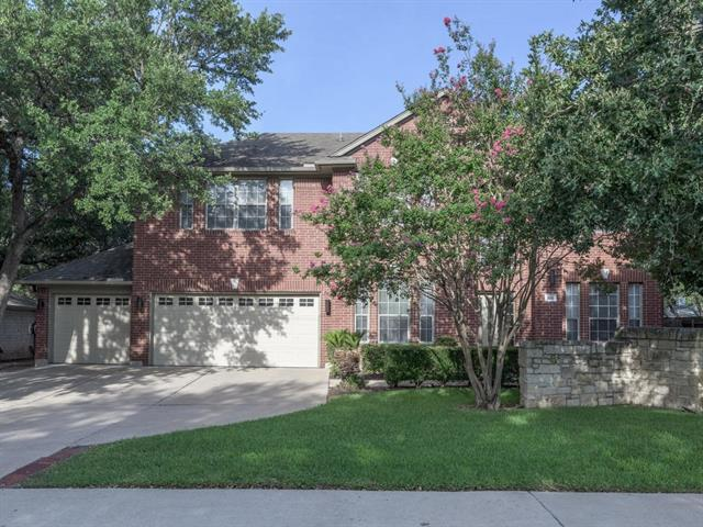FANTASTIC model like home, TONS of interior designer features throughout! Beautiful hardwood floors, Architectural arches, bright open floor plan, inviting paint colors in several room, pvt. office/study area w/French doors, Corian countertops, nice open kitchen - overlooks cozy family rooms, spacious loft area up, GENEROUSLY appointed mstr suite~private fully fenced yard, lush landscaping, mature trees & sprinklers ~TOO MANY features to list! HIGHLY Acclaimed Leander ISD, close to shopping & restaurants!