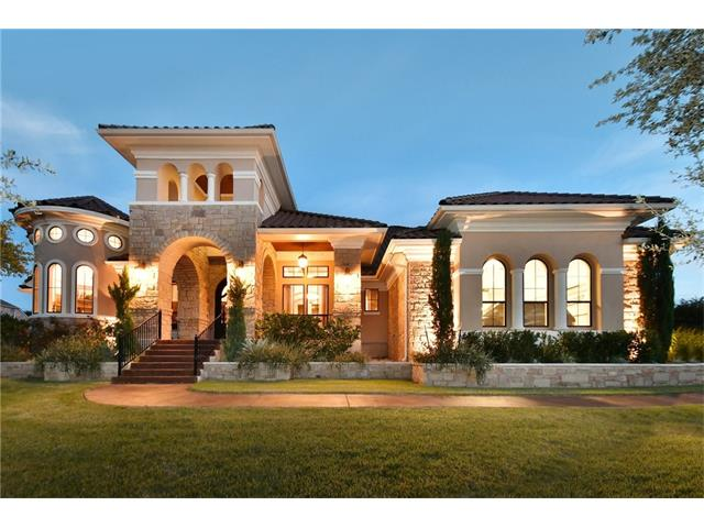 Custom home on huge private lot & 8 Ft fencing create an estate feeling.Double Iron doors lead to 35ft entry w/ columns & beautiful hardwood flrs.  Study w/ 20ft Rotunda, wine rm w/bar, Gourmet kitchen w/ 16ft ceilings, fireplace and wall of windows open to covered patio with outdoor kitchen.Mstr down with luxurious bath with 20 ft high shower. Guest suite down.Game rm, media rm, kids playrm and hw area. Walk to Country Club, Fitness cntr, golf course, private waterpark.