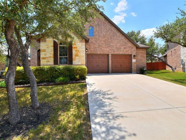 Stunning 1.5 story home in a cul-de-sac.  This home shows like a model home featuring 3 bedrooms and 2 baths on the main level and a loft bedroom 4 with full bath upstairs.  A 2.5 car garage gives you ample room for storage.  Recent additions include an extended rear patio and a  soft water system.  This open concept floor plan features 12 ft. family room ceilings, a cast stone fireplace and island kitchen.  Window treatments do not convey.