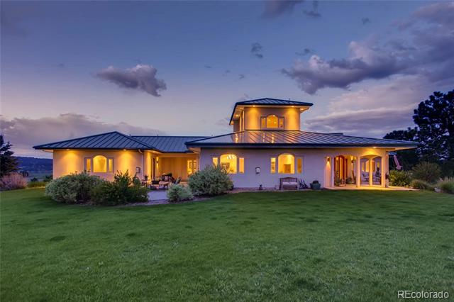 This magnificent 35 acre estate with the most breathtaking views is highlighted by a 10,000+sq ft European style custom ranch style home.   Open floor plan featuring multiple living/dining areas, soaring ceilings and detailed architecture.  The gourmet kitchen is every chef's dream, with hand picked granite, multiple prep stations, a personal serving bar and a vast array of top of the line appliances.  The master suite boats a spa like bathroom with 2 person steam shower, body sprays and seating.  Additional features include 8 zones of in-floor radiant heating, in law suite, wrap around deck, roof top deck, dual office space and a multitude of flex spaces including pottery room, wine cellar and craft room in the basement.  Every detail has been carefully selected including a ready to install elevator of choice to the new home owner.  Suitable for domestic livestock and zoned for additional 2 units.  Property appraised for over $1,800,000 in May.
