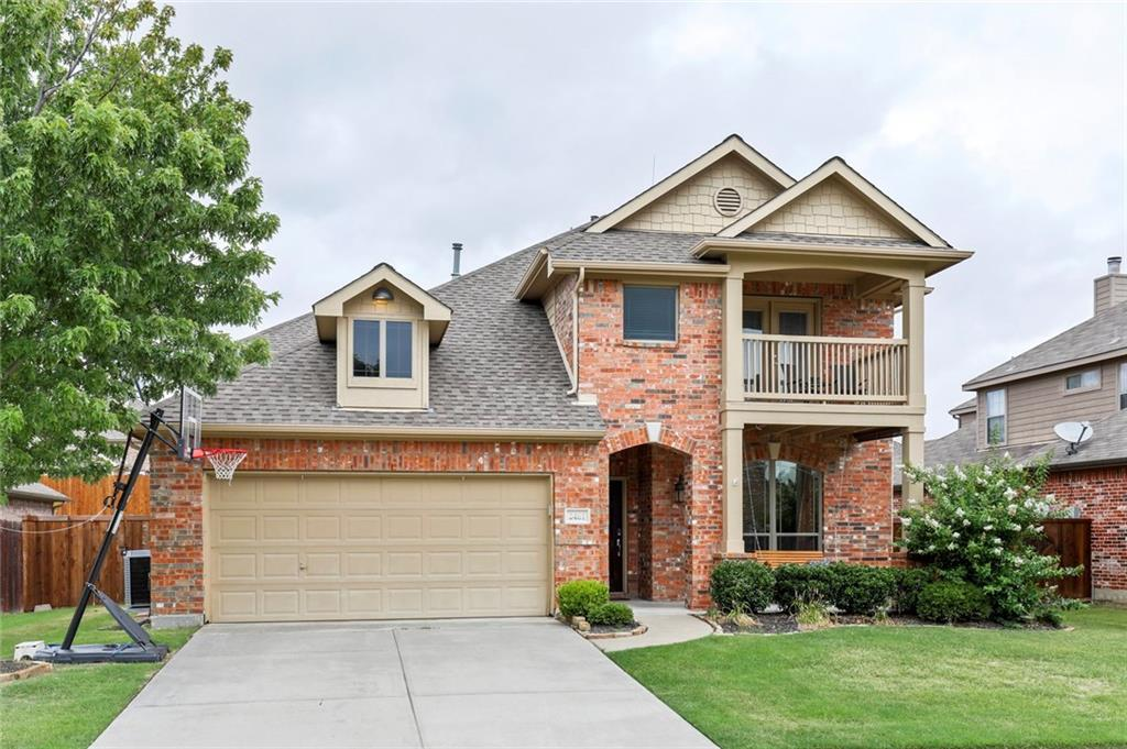 Wonderful home in great location with acclaimed Frisco ISD! Newly installed wood floors in most areas, new carpet in all of the bedrooms.  Master retreat is on first floor with secondary bedrooms, game room and media room, as well as a Juliet balcony on the second level.  Formal dining room would also make a great study.  Wonderful open floor plan with family room open to the kitchen.  City park within walking distance and great location with easy access to DNT and Sam Rayburn.