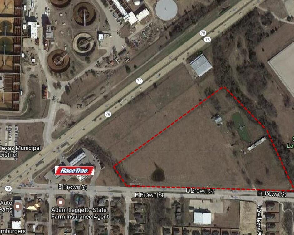 High Traffic area, with four lanes of frontage on Brown St just east of the intersection of state highway 78. Approved for CC Commercial Corridor zoning this property is currently Ag exemption. Could be purchased in larger parcel with Highway 78 connecting property listed separately.