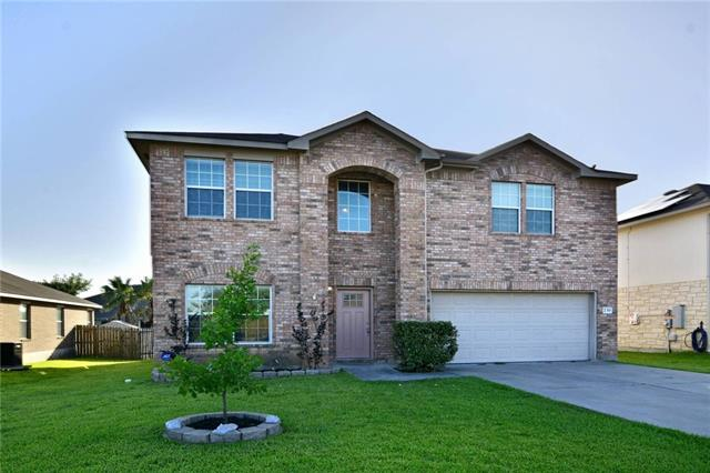 Stunning 4bed 2.5bath w/ office/5th bedroom featuring french door entry, open & inviting floor plan, spacious family room, fireplace w/ marble surround, kitchen opens to dining & family room, kitchen island, stainless steel appliances, tile & wood floors, huge master bedroom & closet,separate tub & shower, over sized secondary bedrooms, game room/media room up, finished out attic space for extra 200sqft room up, huge back yard w/ covered back porch perfect for family B-B-Q, must see this lovely home