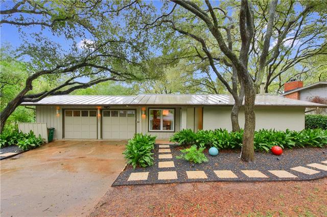 Begin a new chapter of your life in this quintessential mid-century modern home that backs to Shoal Creek. You'll be instantly drawn to the screened in lounge that overlooks the creek where you can experience quiet moments or host memorable gatherings for your family and friends. This home boasts a master suite that appears to float in the treetops and is filled with an abundance of light.  The neighborhood gathering spot in the cul-de-sac is where you'll relax, connect with friends, & know you are home!