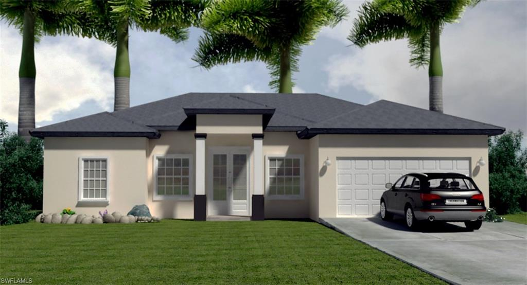 PRE-CONSTRUCTION, Spectacular Zaffiro Basic Model, open floor plan, in beautiful Golden Gate Estate, just 20 minutes from beautiful sandy Naples Beach and golf courses. Covered lanai, granite counter tops, custom wood cabinets, porcelain floor, elegant 8 feet high interior doors. This property will be built by a Naples reputable builder with one year limited warranty and a 10 years structural warranty. Upgraded high efficiency AC unit. As always, this is a high quality Saggio Construction. Something unique on this 1.14 acres lot is that the home was intentional and wisely designed to have enough space for a driveway on the east side of the property to traffic RV, truck or equipment to rear of the house. This model has also the option to upgrade to tile roof; and downgrade to regular glass windows and doors to save money to the buyer if needed.