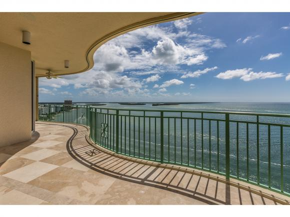 "Captivating Gulf of Mexico and beach views from this luxurious front residence on the beach! This 3 Bedroom 3.1 Bath plus den, stunning unit is located in the southern most part of Marco Island."" THE"" address to have! Marble floors throughout, granite counters, stainless steel appliances, gourmet kitchen w/cherry cabinets. 2 balconies to enjoy sunrise and sunset! Private elevator to unit. Beautiful fitness center overlooking Gulf, theatre room, social room, billiards room and incredible pool overlooking Gulf of Mexico and beach! Luxury at its finest!"
