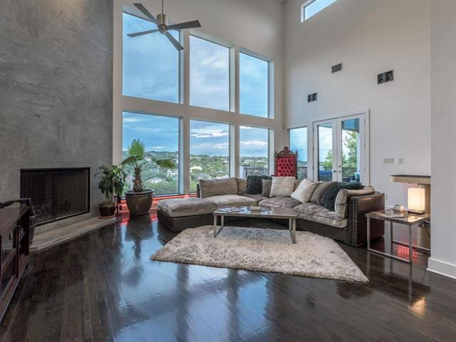 Stunning modern masterpiece designed by Stephen Zagorski AIA, offers unparalleled entertaining options. Centrally located in Cat Mountain on a quiet street, this 1/4 acre property backs to green space & showcases hill country views for miles. Soaring ceilings & spacious entertaining spaces abound. Dramatic floor to ceiling windows & balconies on each level allow you to soak in panoramic views from multiple vantage points. Outdoor features swanky resort style pool with spa/grotto, fire pits & water sheers.