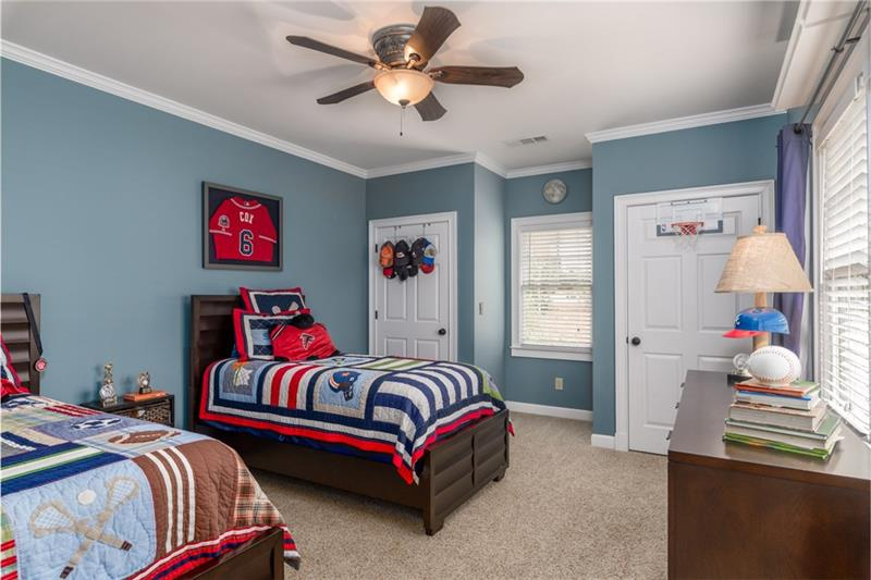 1 of 3 oversized spare bedroom; this one features TWO closets!